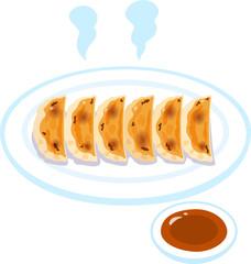 焼き餃子とタレ