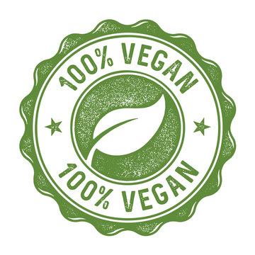 100 Prozent Vegan Stempel
