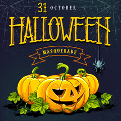 Halloween Invitation Card Vector Design