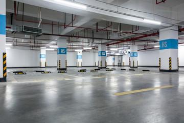 Parking garage, underground interior