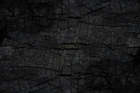 Close up Surface of charcoal