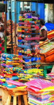 Stack of material in West Africa