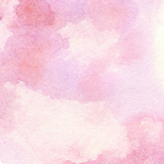 Abstract pink watercolor background. Beautiful hand made watercolor texture.