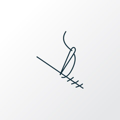 Stitching icon line symbol. Premium quality isolated needlework element in trendy style.