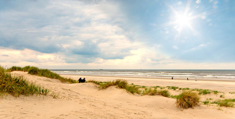 Wall Mural - Nordsee, Strand auf Langeoog: Dünen, Meer, Entspannung, Ruhe, Erholung, Ferien, Urlaub, Glück, Freude,Meditation :)