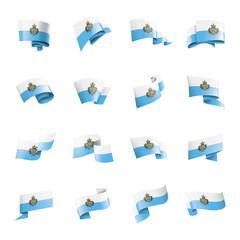 San Marino flag, vector illustration on a white background