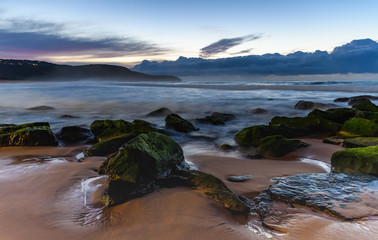 Rocky Dawn Beach Seascape
