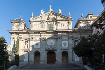Amazing Morning view of Parish of Santa Barbara in City of Madrid, Spain