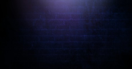 Vignette and light on purple brick wall background