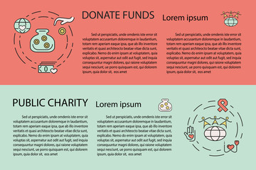 Charity and donation banner