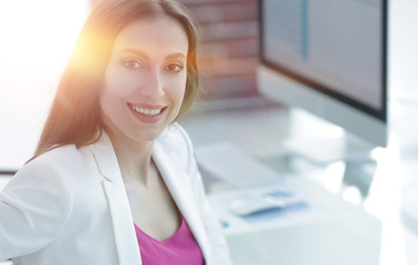 successful business woman smiling customer
