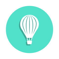 Aerostat icon in badge style. One of travel collection icon can be used for UI, UX