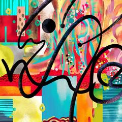 Creative modern decorative canvas abstract digital artwork
