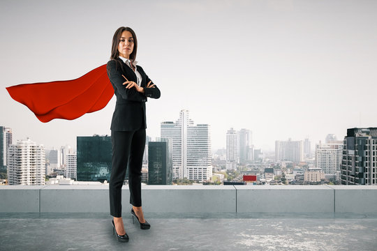 Superhero and success concept