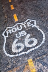 Fotobehang Route 66 Route 66 sign in USA.