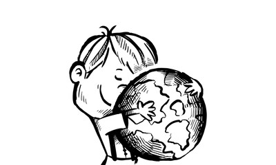 search photos dungaree Construction Worker Logo boy hugging earth