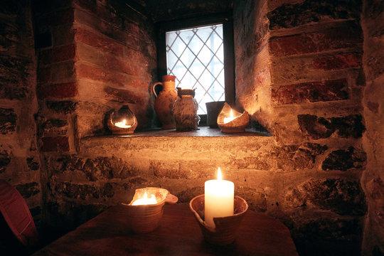authentic medieval tavern. interior