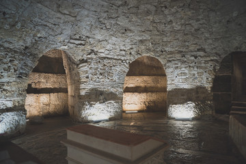 Basement of Diocletian's Palace in Split , Croatia.