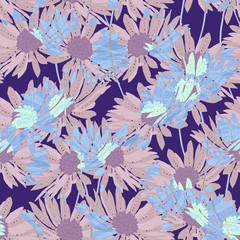 Elegance pattern with flowers and leaf.