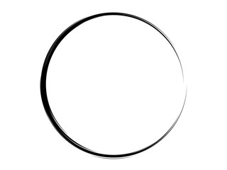 Ink circle.Grunge paint circel.Oval shape made of ink.