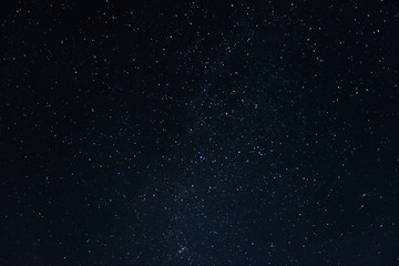 Night starry sky background