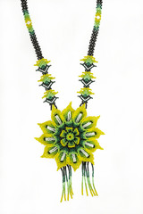 huichol necklace of hippie style chaquiras