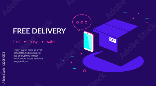 Mobile App For Free Delivery And Online Payments By Credit Card