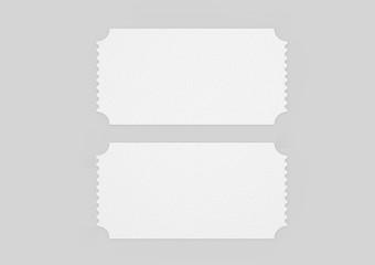 Blank old  ticket for mock up design or design presentation. 3d render illustration.
