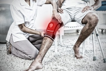 Composite image of highlighted pain