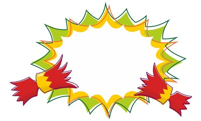 Christmas Cracker Pull with Outline Starburst Background