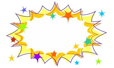 Childrens Party Starburst Flash Background