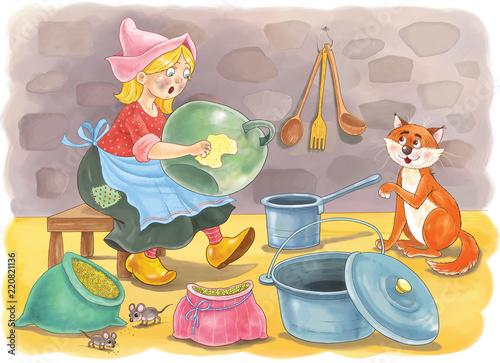 Cinderella  Fairy tale  Coloring page  Coloring book  Cute