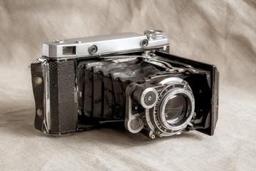 Old camera close-up.