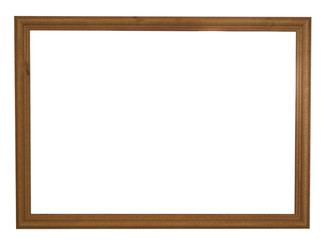 Dark brown natural color empty wooden picture frame