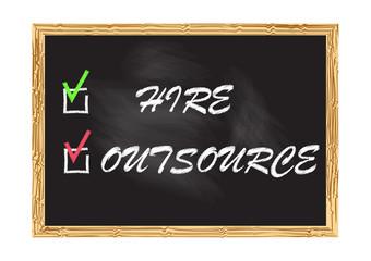 Blackboard record Hire Outsource Vector illustration for design
