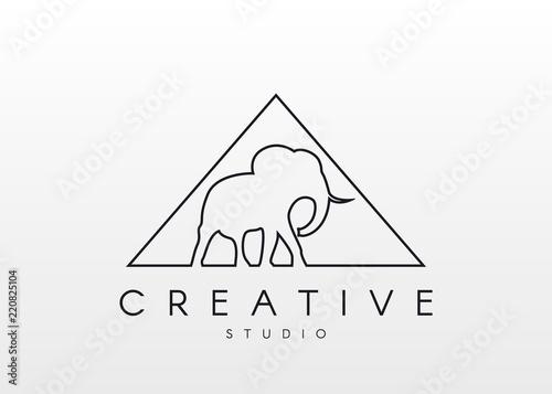 052a9b723 Elephant Logo. Linear logo