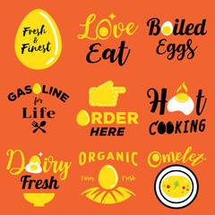 egg illustration with word design