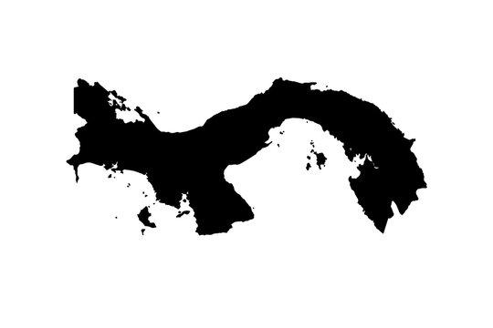 map of Panama. vector