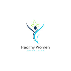 Healthy women logo