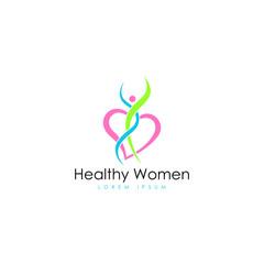 Healthy women logo