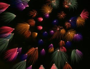 Fireworks exploding in the sky, Santa Maria, Malta