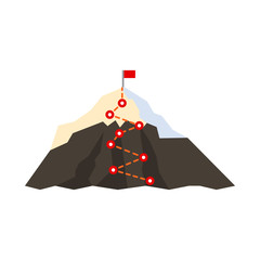 Isolated object of alpinism and peak logo. Collection of alpinism and camp vector icon for stock.