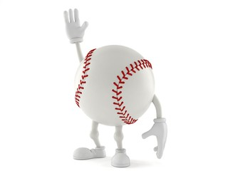 Baseball character with hand up