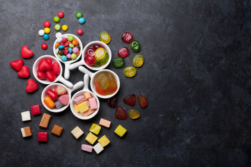 Colorful sweets