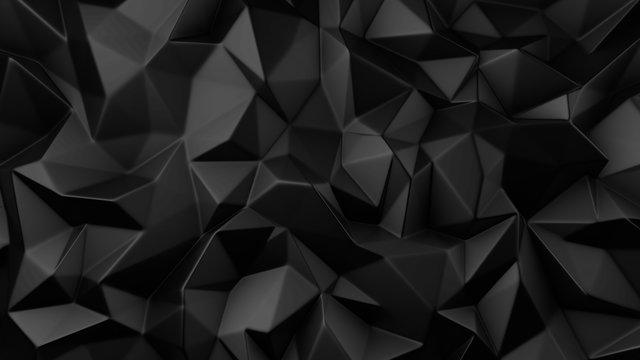 Stylish black crystal background..3d illustration, 3d rendering.