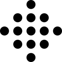 Stylized array of dots