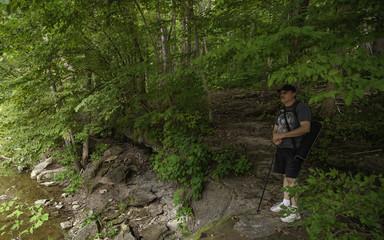 Hiker on the Rocks