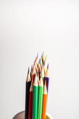 Color pencils white background colorful
