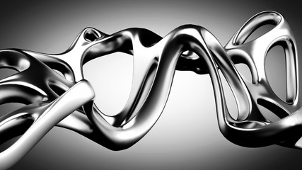 Abstract shape background. 3d illustration, 3d rendering.