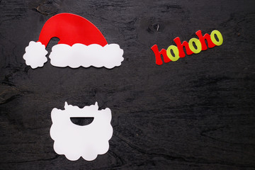 x-mas background top view